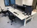 Kantoorinrichting - monitorarmen - dubbele monitorarmen - kabelmanagement