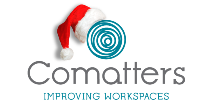 Comatters jaarafsluiting - Comatters logo - improving workspaces
