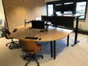 zit sta bureau - monitor arm 32 inch - dubbele monitor stand - kantoorinrichting