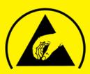 ESD Protective Symbol Yellow - Electro Static Discharge - elektrostatische ontlading